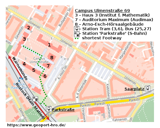 Site Map Campus Ulmenstrasse